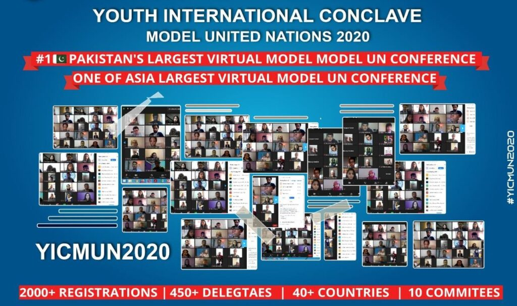 Pakistan's biggest Virtual Model UN Conference organized by Youth International Conclave - YIC