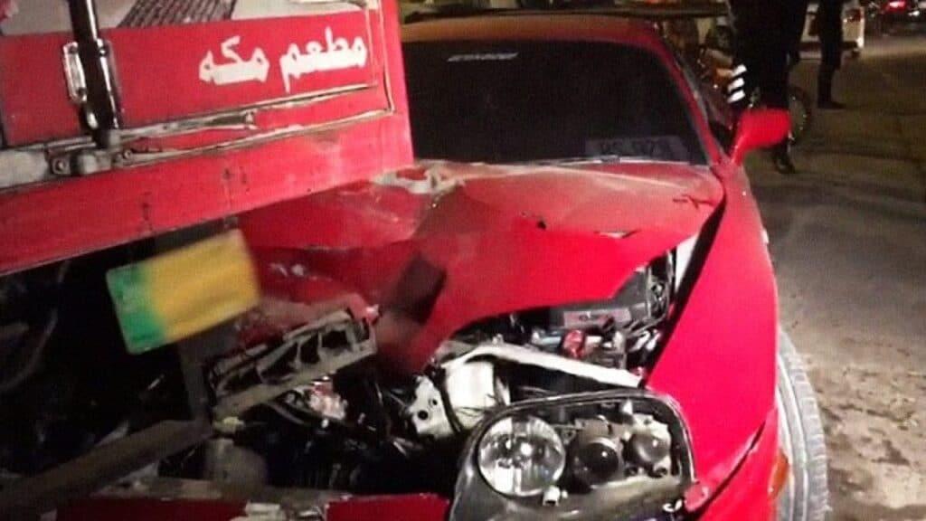 crickter shoib malik car accident