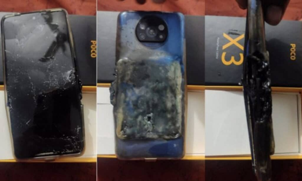 poco x3 exploded while charging